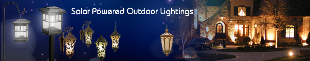Solar Powered Outdoor Lightings